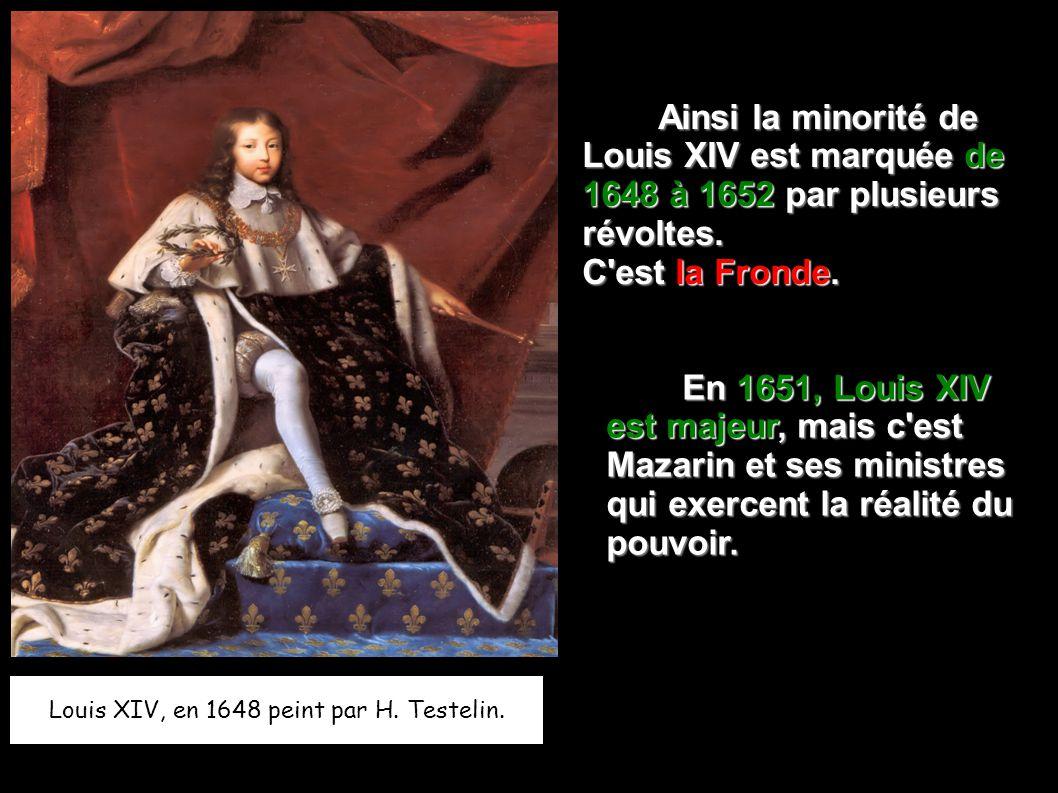 Louis XIV, en 1648 peint par H. Testelin.