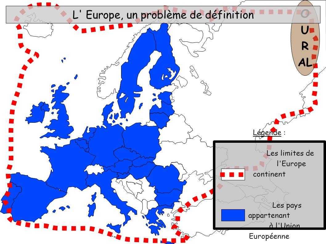 L Europe, un problème de définition