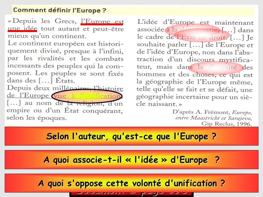 Document 2 page 196 Selon l auteur, qu est-ce que l Europe