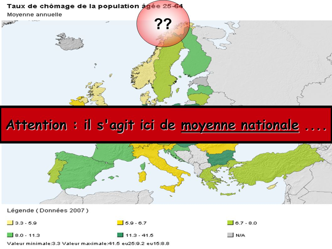 Attention : il s agit ici de moyenne nationale ....