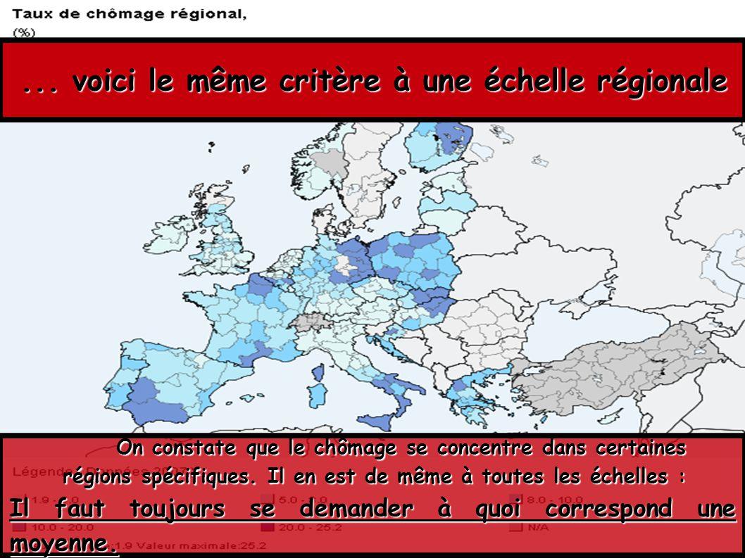 ... voici le même critère à une échelle régionale