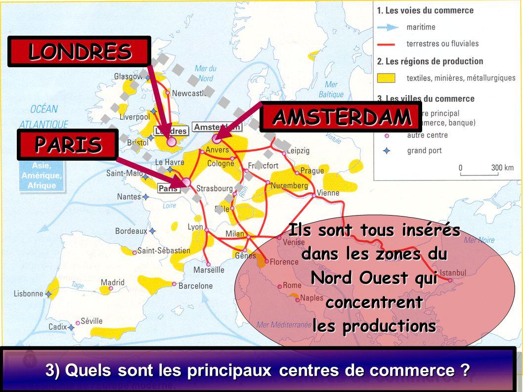 LONDRES AMSTERDAM PARIS Ils sont tous insérés dans les zones du