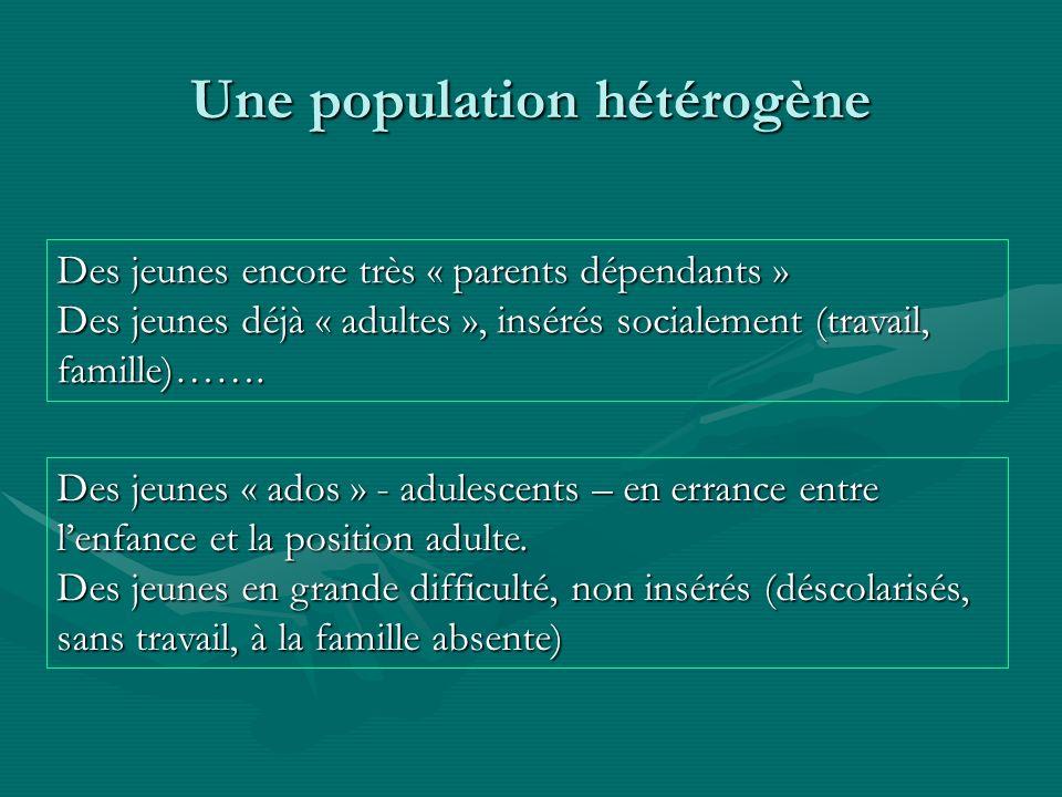 Une population hétérogène