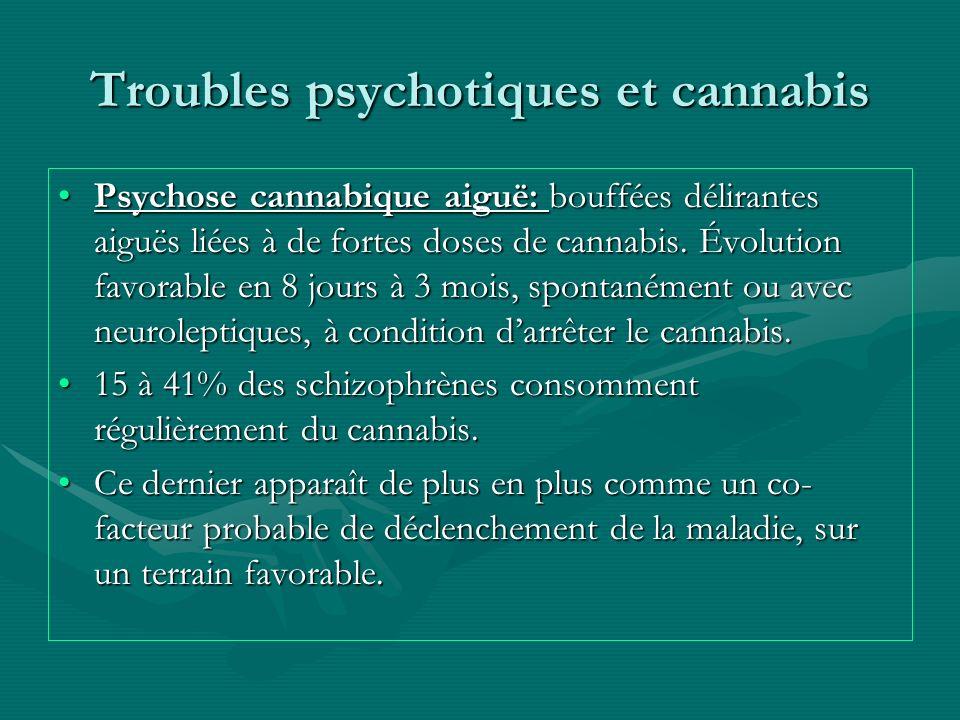 Troubles psychotiques et cannabis