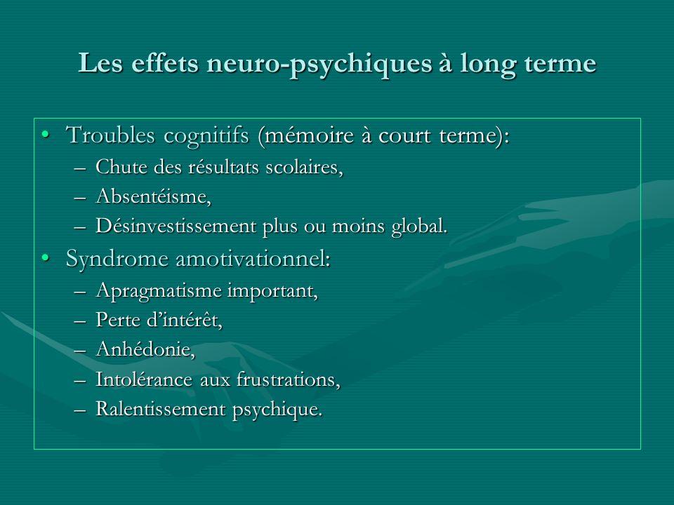 Les effets neuro-psychiques à long terme