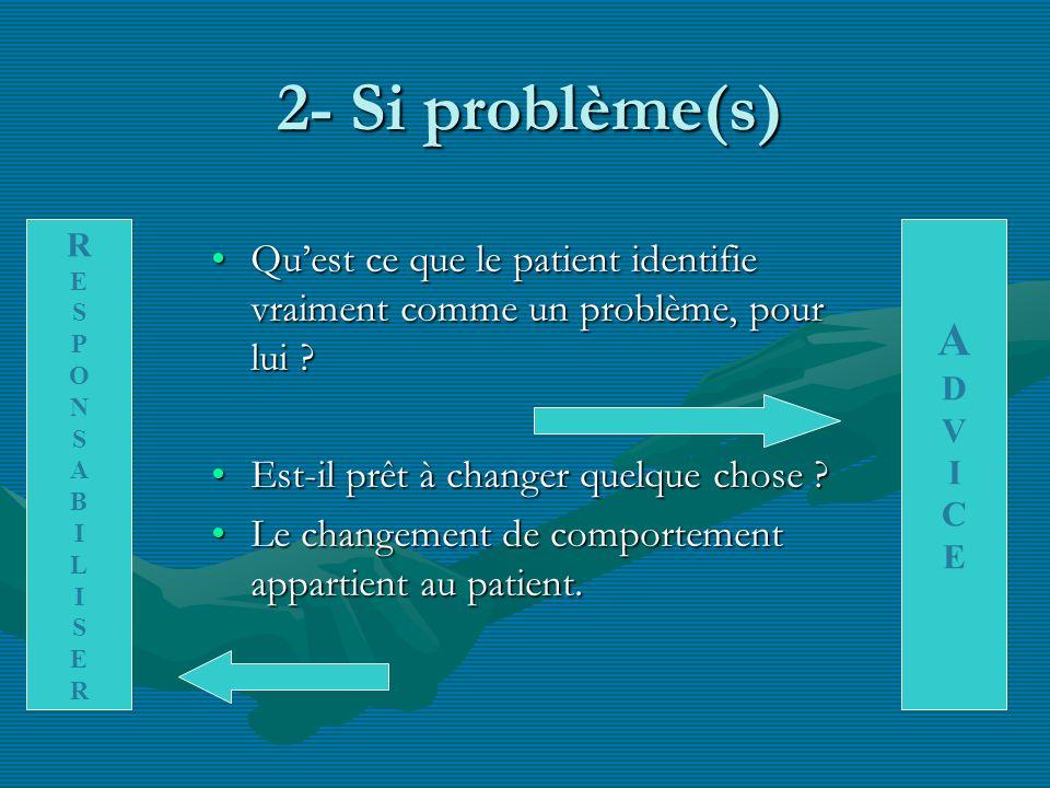 2- Si problème(s) R. E. S. P. O. N. A. B. I. L. A. D. V. I. C. E.
