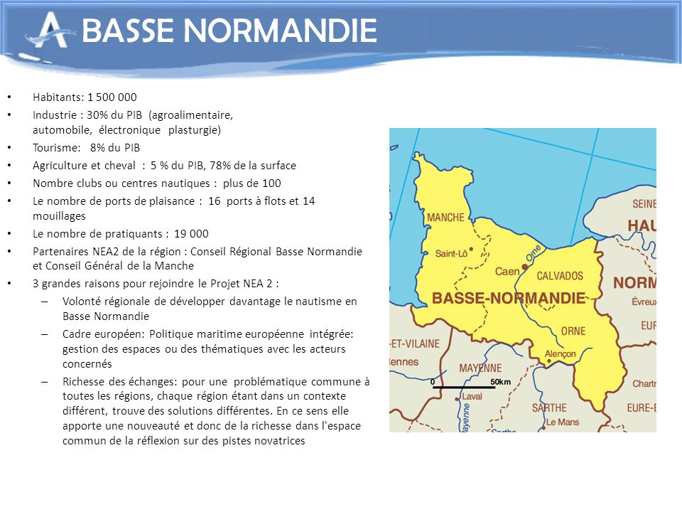 BASSE NORMANDIE Habitants: 1 500 000