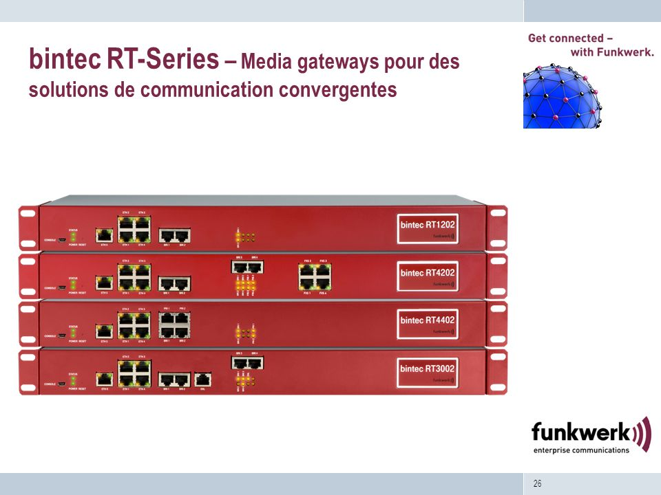 bintec RT-Series – Media gateways pour des solutions de communication convergentes