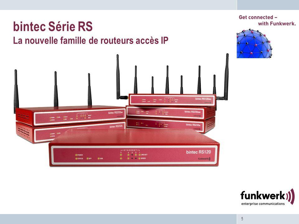 bintec Série RS La nouvelle famille de routeurs accès IP