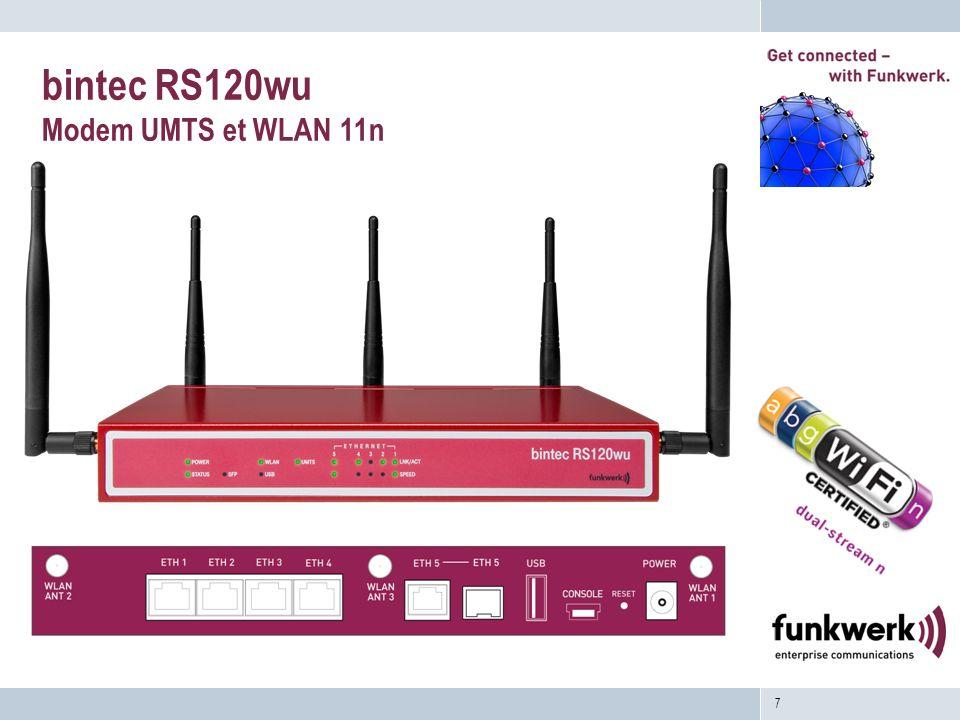 bintec RS120wu Modem UMTS et WLAN 11n