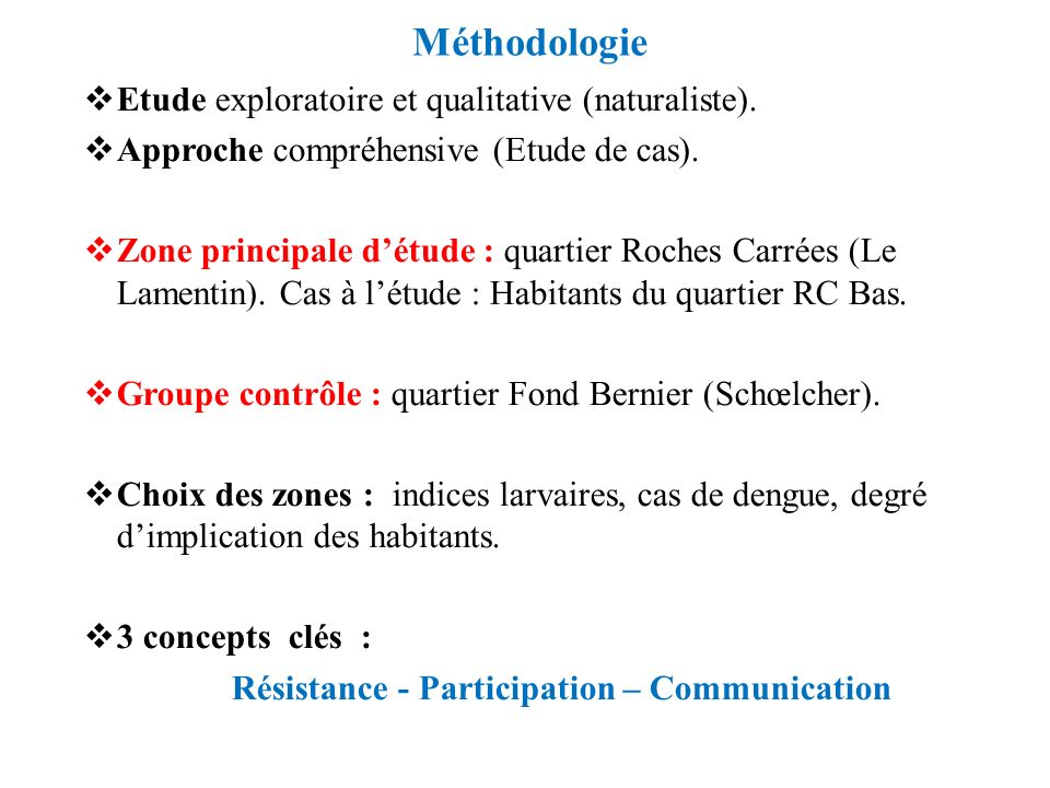 Résistance - Participation – Communication