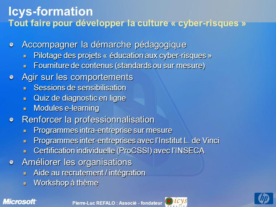 Icys-formation Tout faire pour développer la culture « cyber-risques »