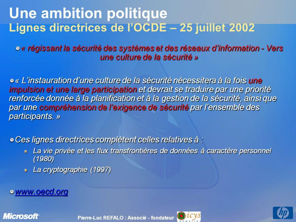 Une ambition politique Lignes directrices de l'OCDE – 25 juillet 2002