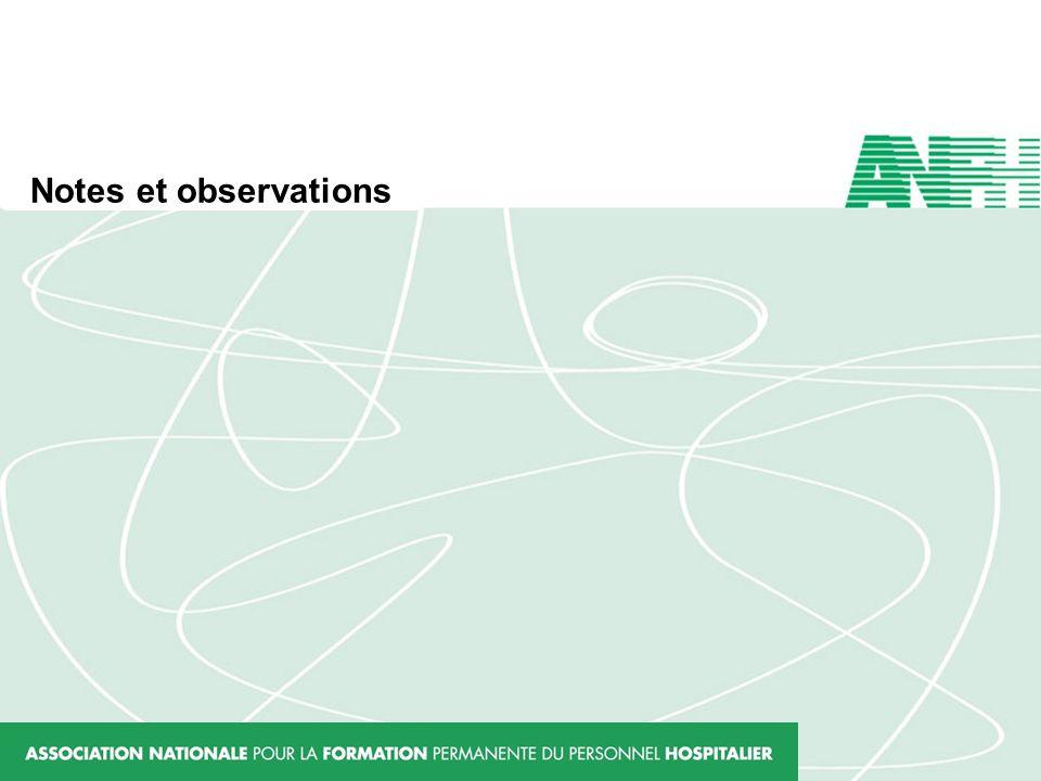Notes et observations