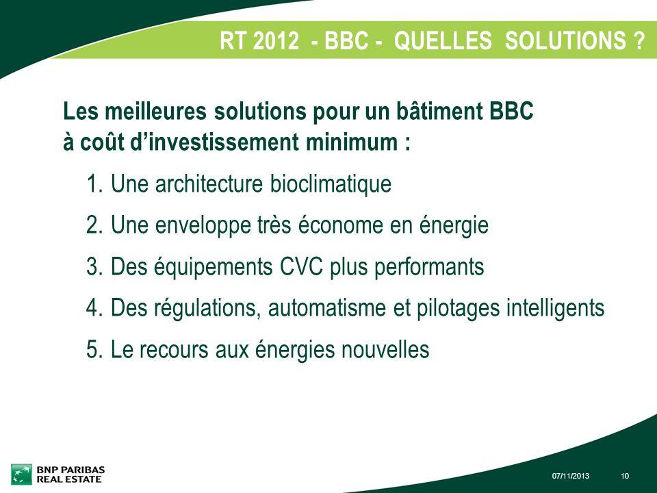 RT 2012 - BBC - QUELLES SOLUTIONS
