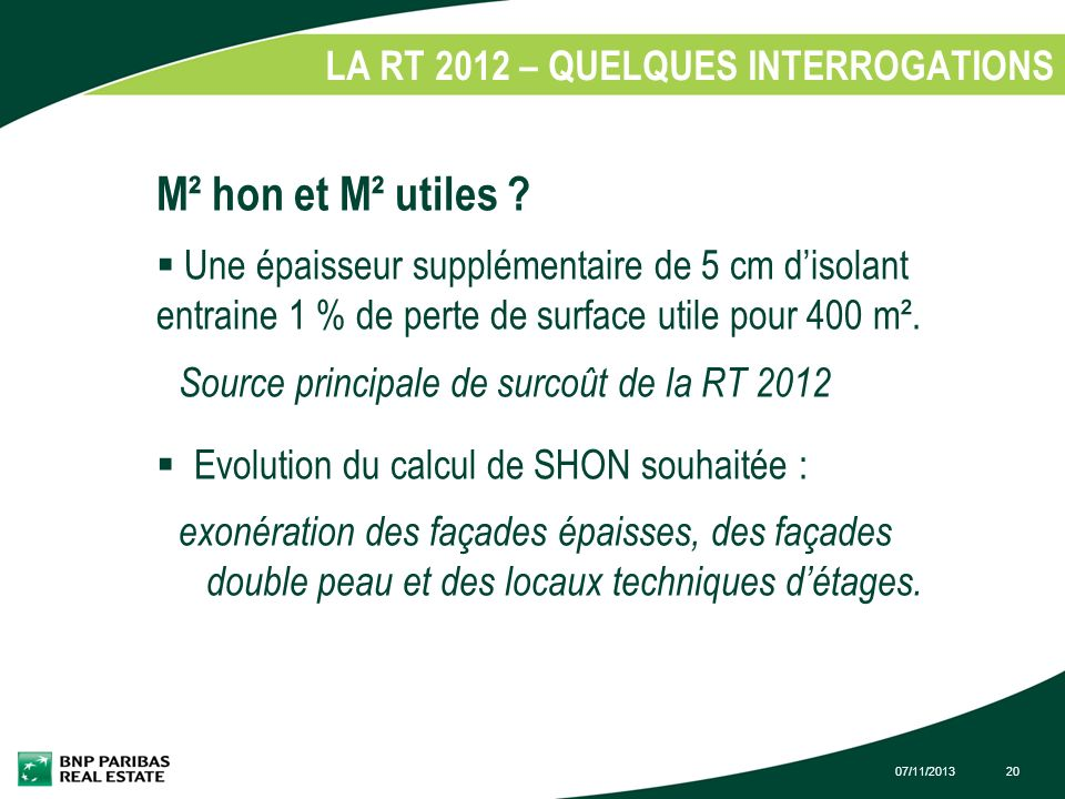LA RT 2012 – QUELQUES INTERROGATIONS