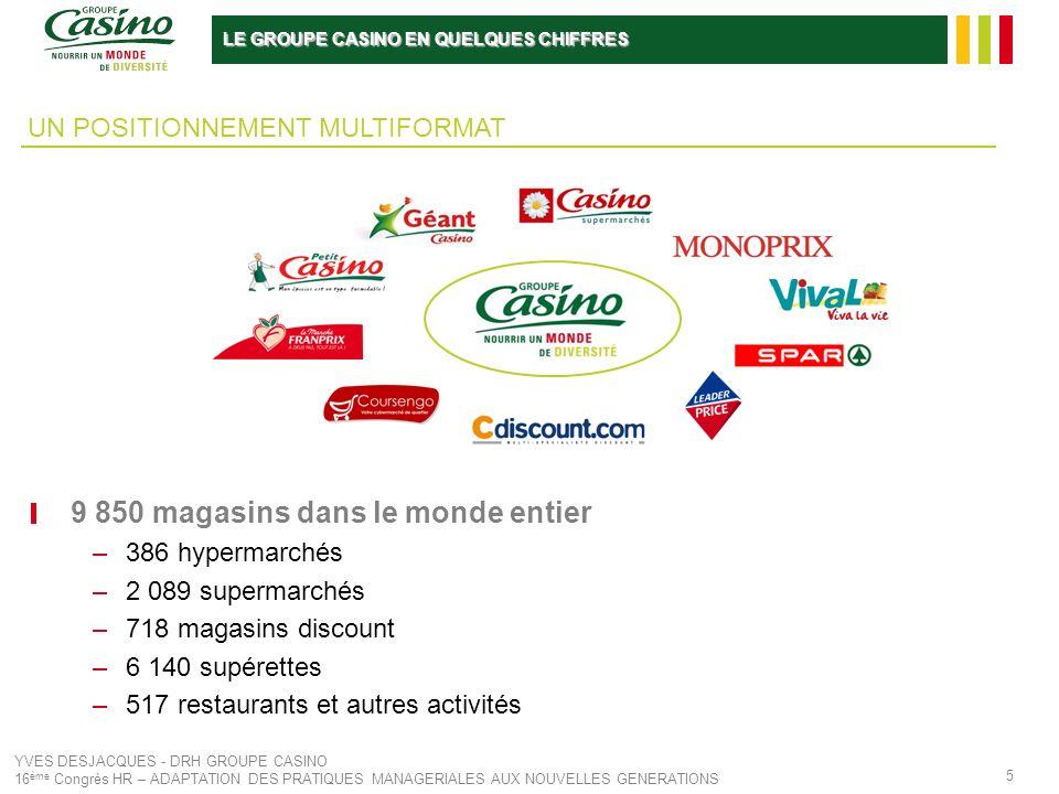 9 850 magasins dans le monde entier
