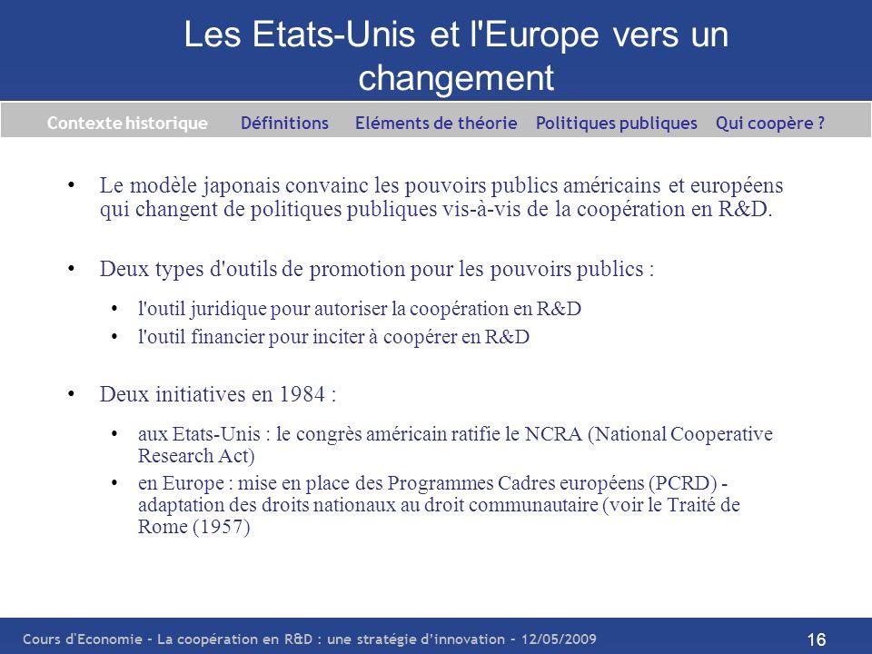 Les Etats-Unis et l Europe vers un changement