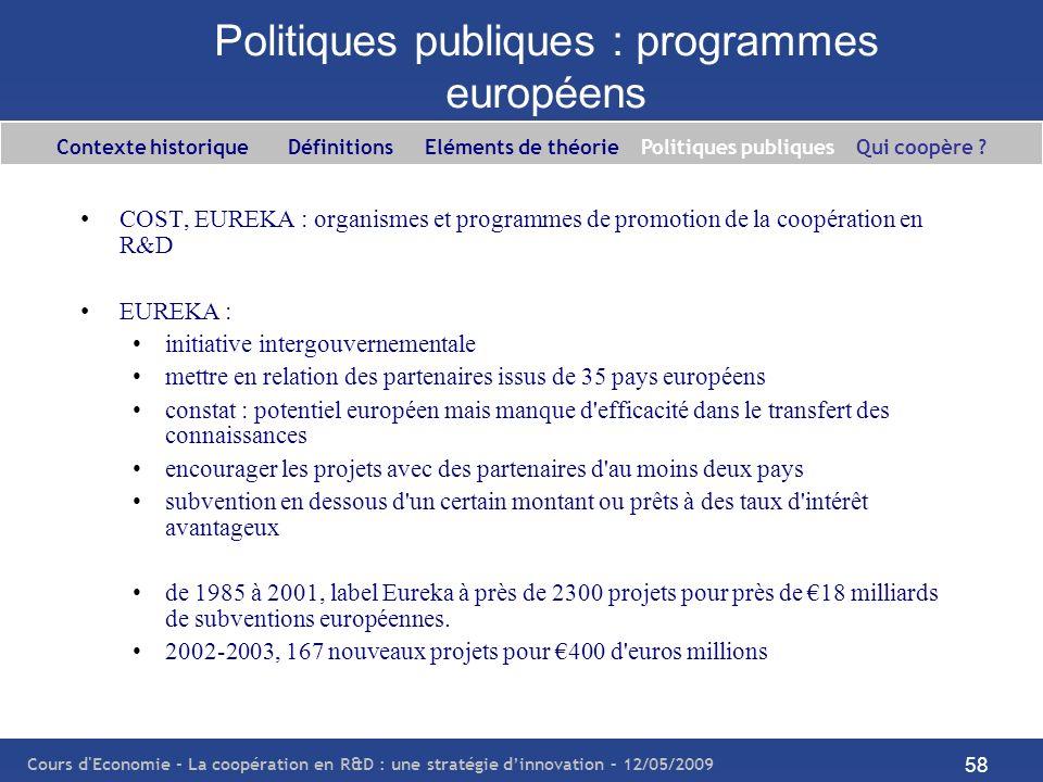 Politiques publiques : programmes européens