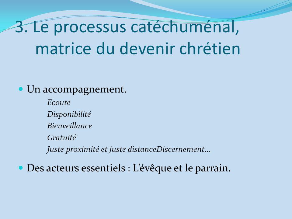 3. Le processus catéchuménal, matrice du devenir chrétien