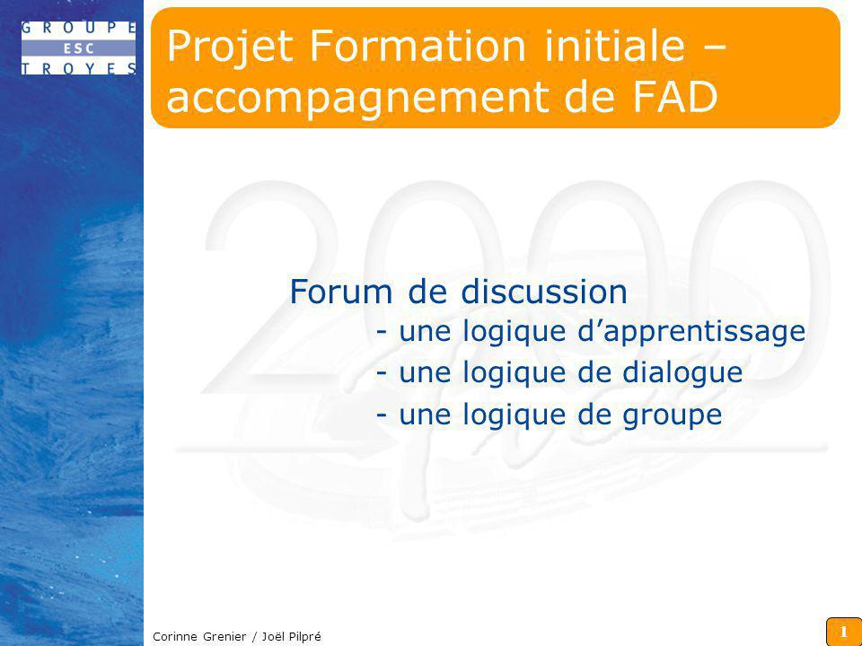 Projet Formation initiale – accompagnement de FAD