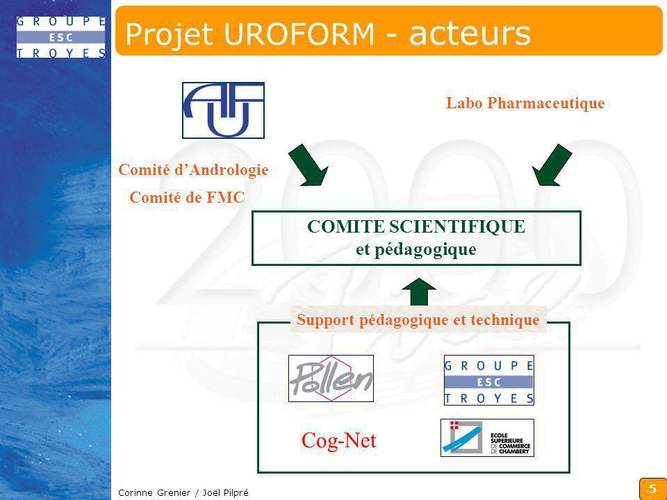 Projet UROFORM - acteurs