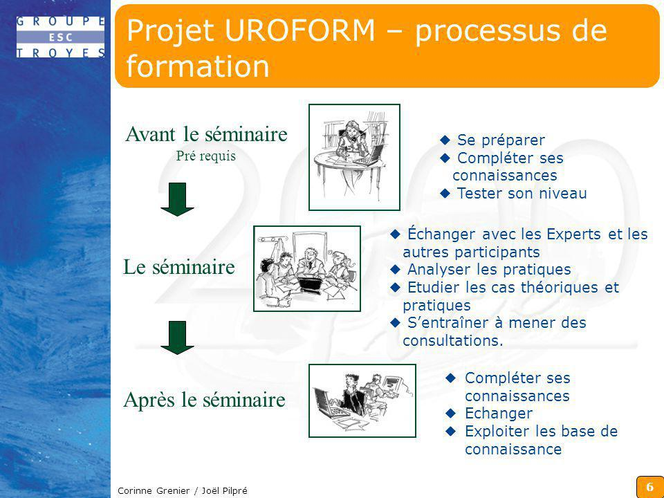 Projet UROFORM – processus de formation