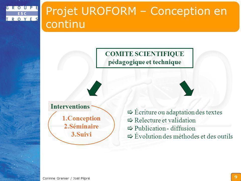 Projet UROFORM – Conception en continu