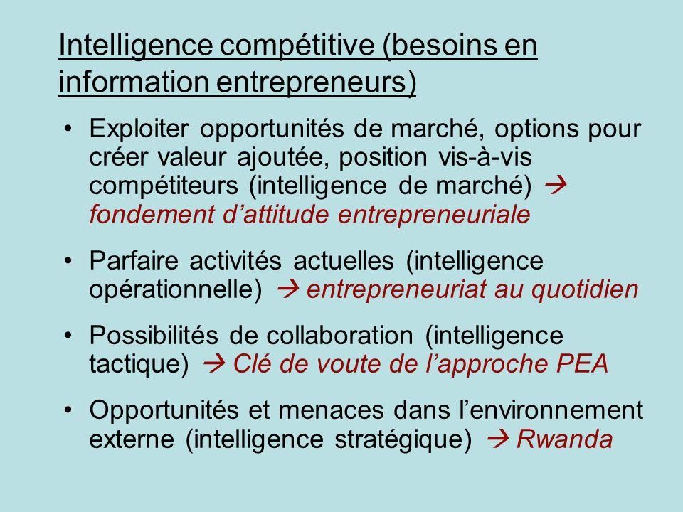 Intelligence compétitive (besoins en information entrepreneurs)
