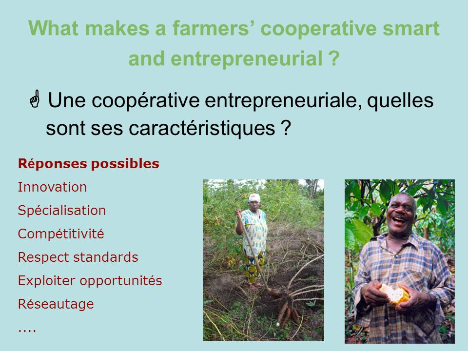 What makes a farmers' cooperative smart and entrepreneurial