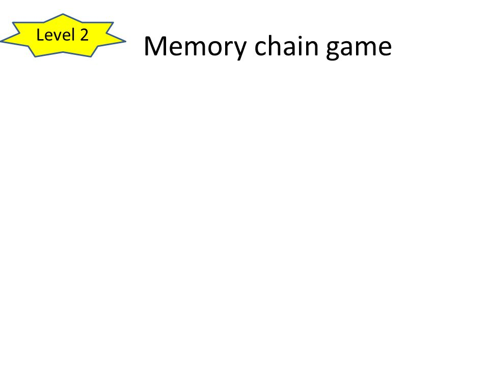 Level 2 Memory chain game