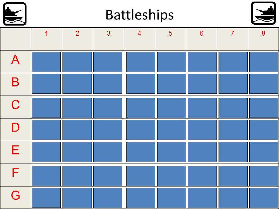 Battleships A B C D E F G 1 2 3 4 5 6 7 8 il fait beau. Je fais du