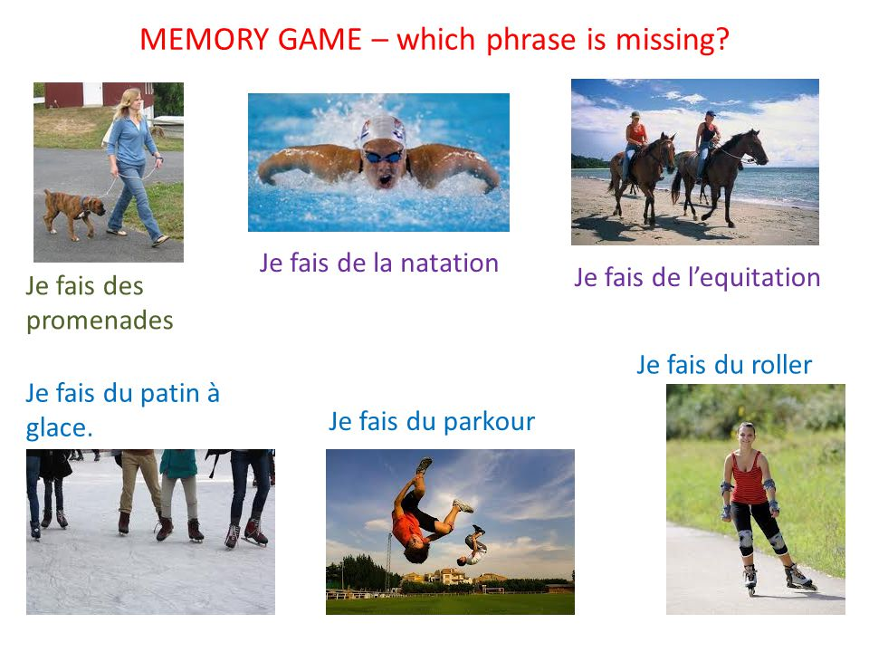 MEMORY GAME – which phrase is missing