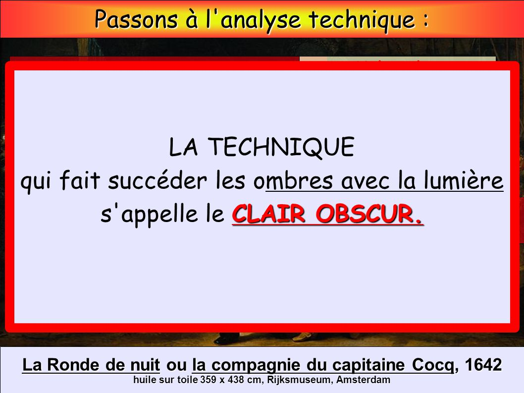 Passons à l analyse technique :