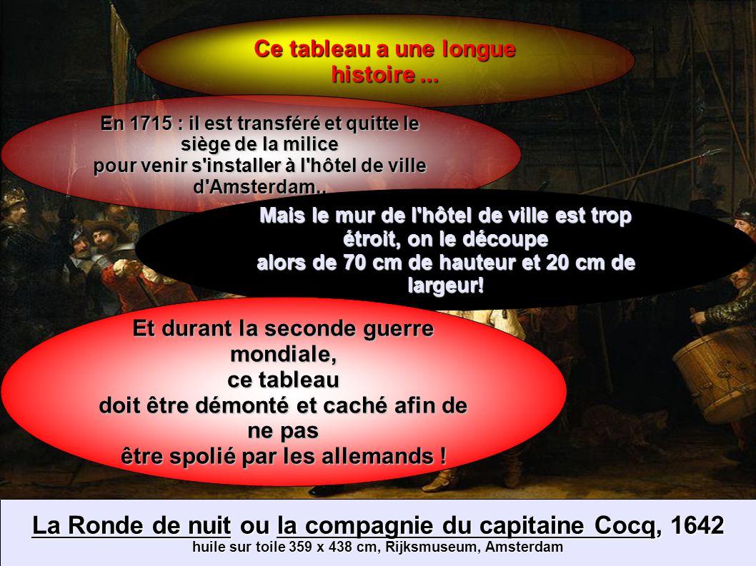 La Ronde de nuit ou la compagnie du capitaine Cocq, 1642