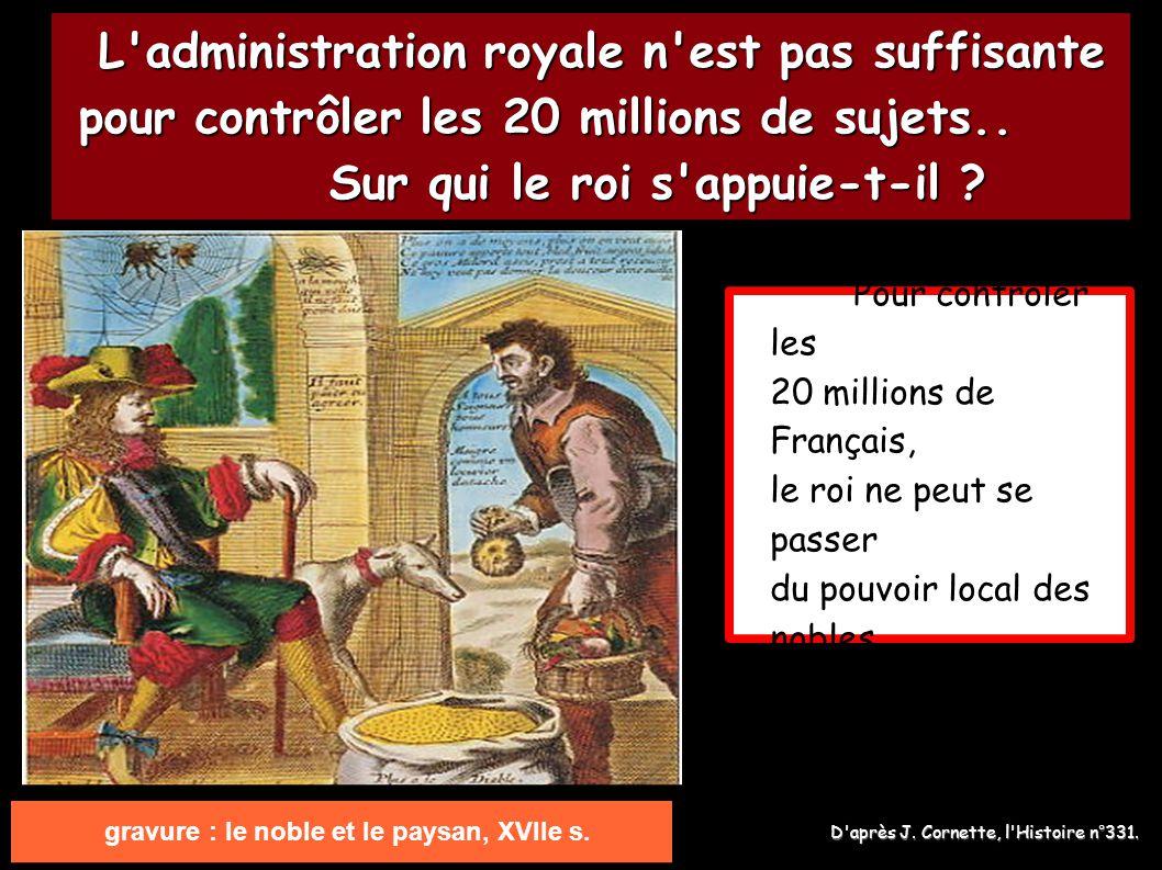 gravure : le noble et le paysan, XVIIe s.