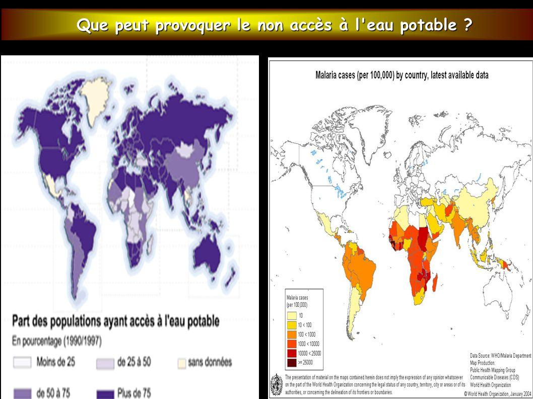 Que peut provoquer le non accès à l eau potable