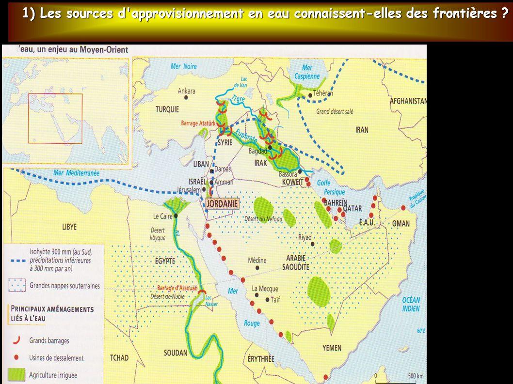 1) Les sources d approvisionnement en eau connaissent-elles des frontières