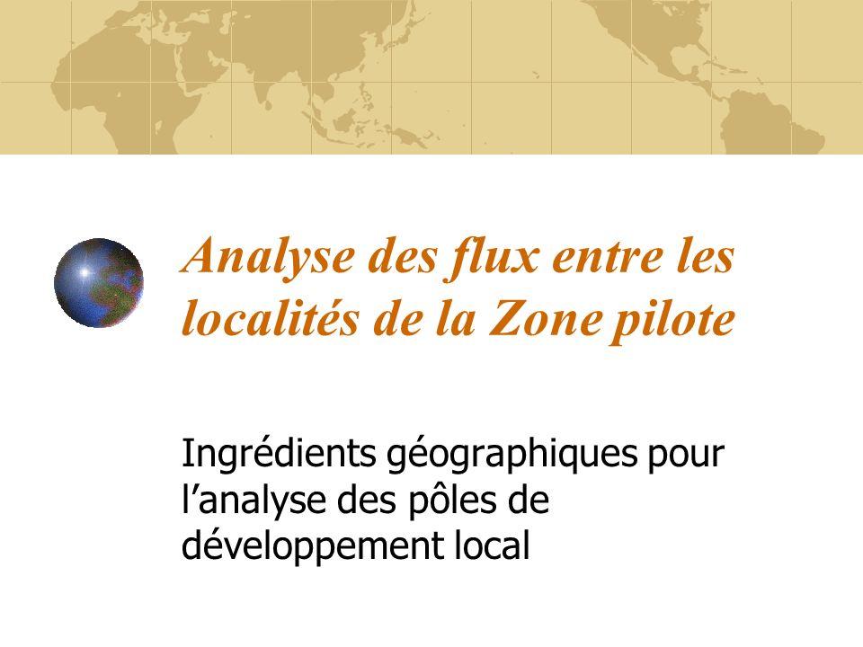 Analyse des flux entre les localités de la Zone pilote