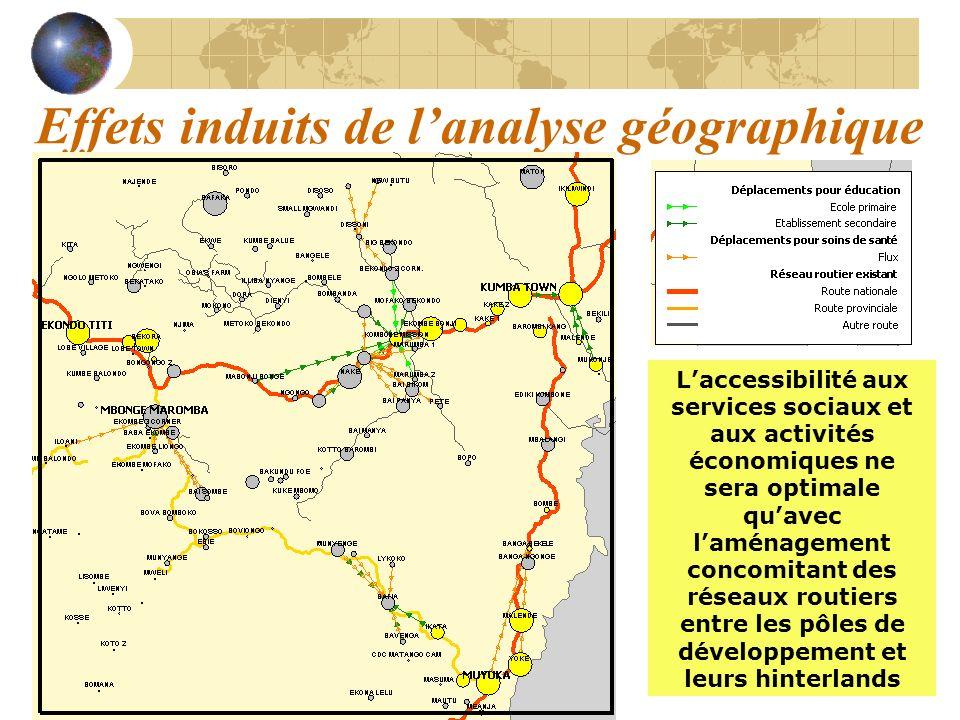 Effets induits de l'analyse géographique