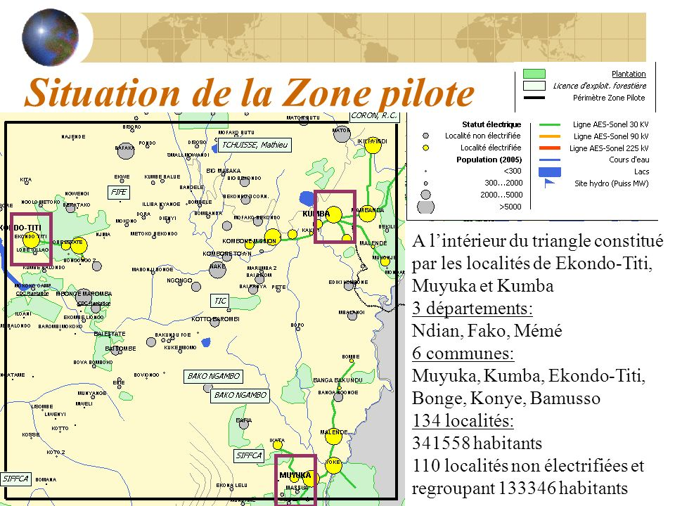 Situation de la Zone pilote