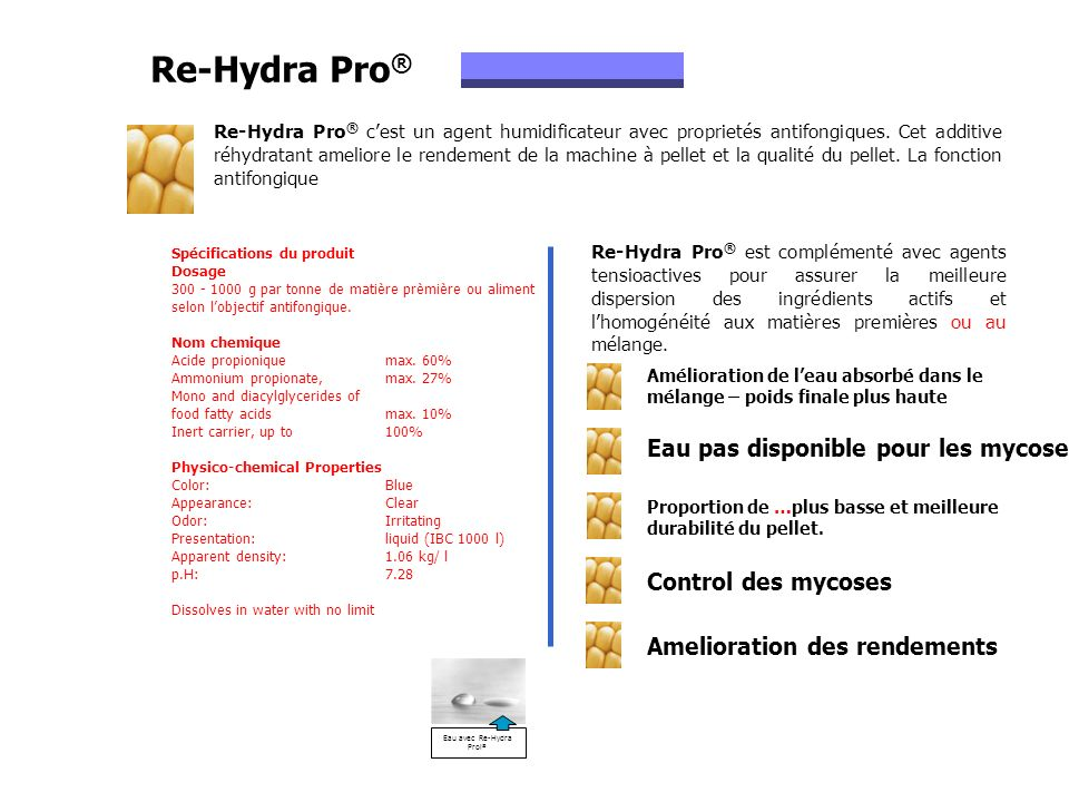 Eau avec Re-Hydra Prol®