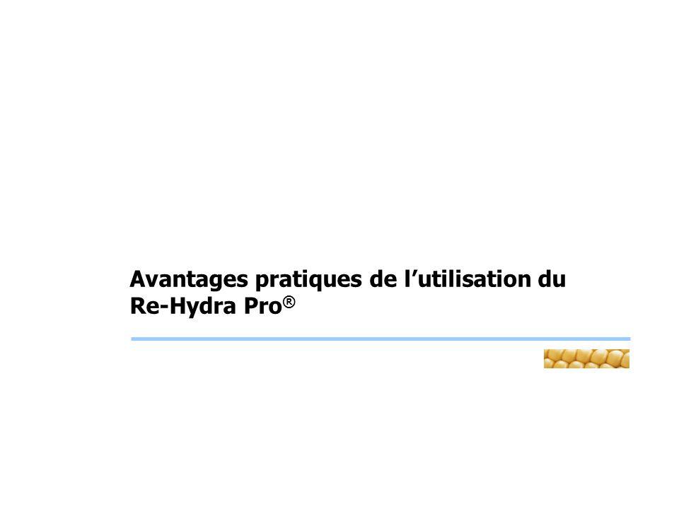 Avantages pratiques de l'utilisation du Re-Hydra Pro®