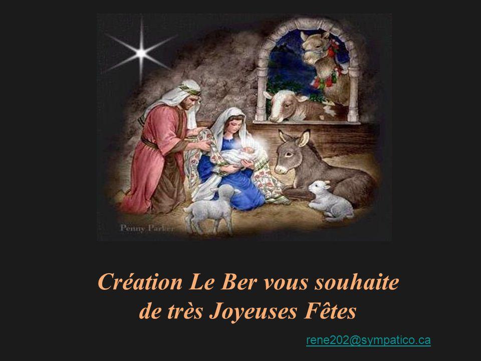 Création Le Ber vous souhaite de très Joyeuses Fêtes