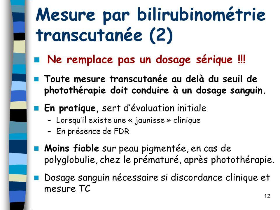 Mesure par bilirubinométrie transcutanée (2)