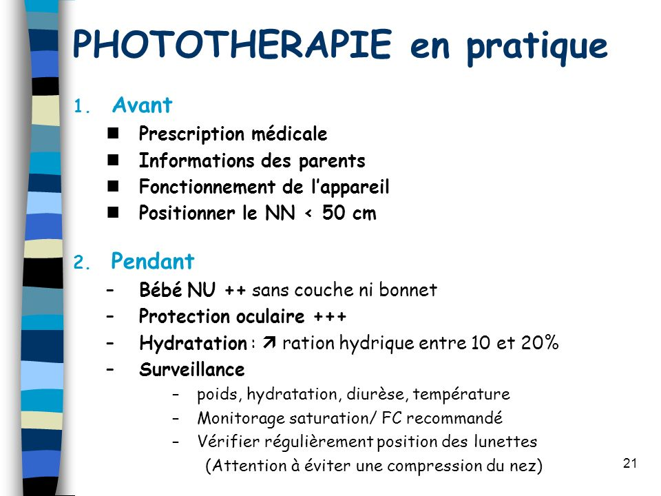 PHOTOTHERAPIE en pratique