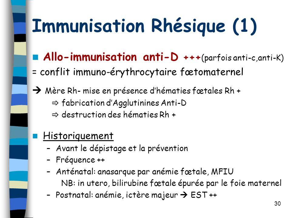 Immunisation Rhésique (1)
