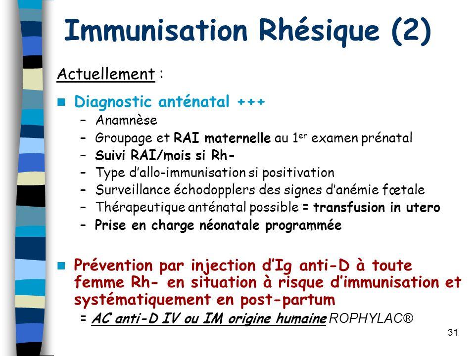 Immunisation Rhésique (2)