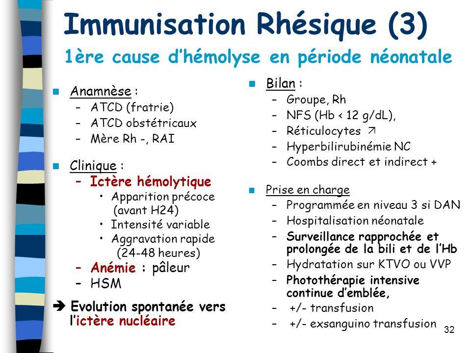 Immunisation Rhésique (3)