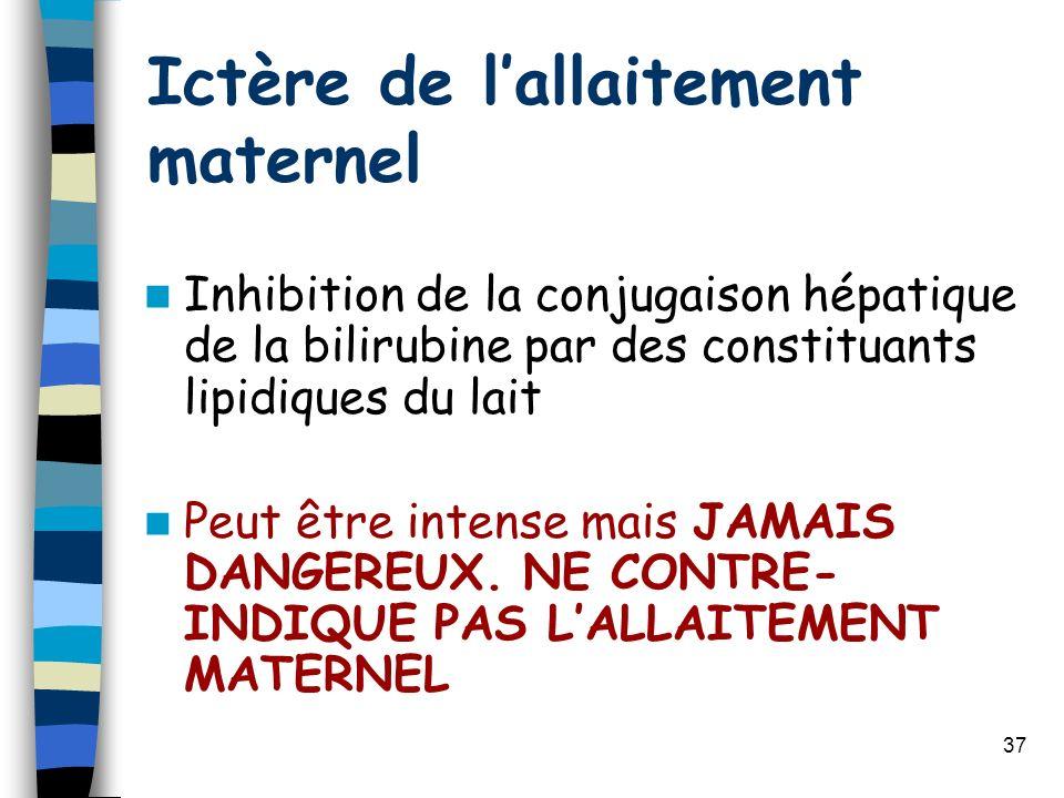 Ictère de l'allaitement maternel